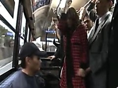 Yuma Asami breasts exposed and squeezed on the bus