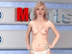 Gorgeous Russian Blonde Natasha Volkova Strips On TV While Giving The News