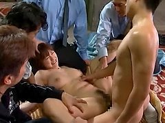 Japanese hottie Yuma Asami gets gangbanged and covered with jizz