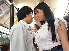 Cute babe Saori Hara fucked in a bus deep and hard