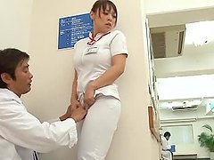 Yuuki Maeda the slutty nurse getting fucked on the roof