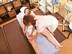 Adorable Japanese woman getting fucked by her masseur