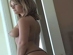 Lovely blondie Brittany Barbour doesn't like clothes