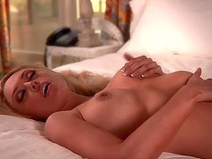Sexy Blonde Babe Jenna Jordan Removes Her Red Panties