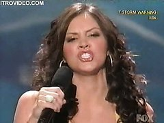 Sexy Brunette Katherine McPhee Performing in American Idol