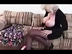 Blonde Mature With Big Round Breasts Sexy Striptease