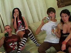 Party Fun With Kinky Drunk Teens On Camera
