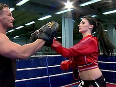 Amazing Aletta Ocean gets fucked by her martial arts couch