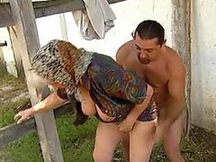 Vicious Hairy Grannies Get Creampied and Facialized Outdoors