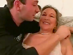 Blonde German Granny Gets Her Beefy Pussy and Her Old Ass Fucked Hard