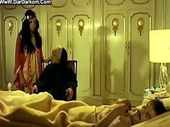 Super Hot Arab Babe Shows Her Bush and Tits in a Bonerific Retro Movie