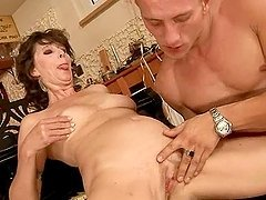 Mature slut Judyt gets unforgettably fucked near a piano
