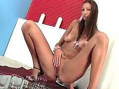 Intriguing euro teen Kitty Jane pee