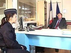 Incredibly Hot French Customs Broker Gets Ass Banged and Jizzed On