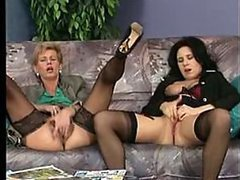 Spectacular German MILFs Share a Big Cock in a Hot Threesome