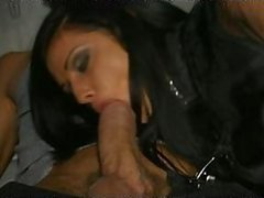 Insanely Hot Italian Brunette Gets Threesomed In a Limousine