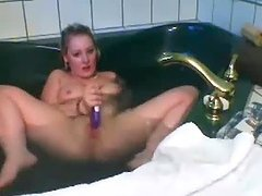 Girl In Bath Playing With Herself