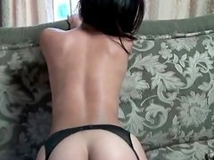 Stunning latina gets fucked from her back in POV