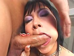 Bianca Dagger gets loads of cum in her mouth after some ardent banging