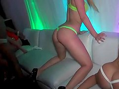 Party hotties flashing their asses at hardcore orgy