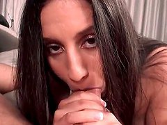 POV nympho latina riding jizz loaded cock with lust