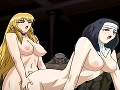 Nun hentai with bounching tits hot doggystyle fucked