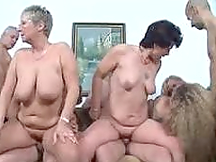 German Mature Swingers are in a wild orgy