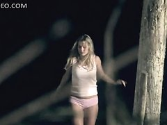 Kristyn Green In Her Cute Underwear In the Forest
