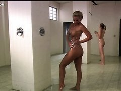 Stunning Maxine Taylor Touching Phoenix Marie's Big Jugs In The Shower