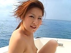 Gorgeous Horny Japanese Babe Getting Fucked and Facial on a Yacht