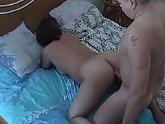 Horny mature couple are fucking under the spy camera
