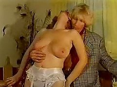 Mature blonde in stockings gets her vag rubbed and fucked