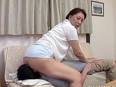 Lovely Asian slut giving head to her lucky man