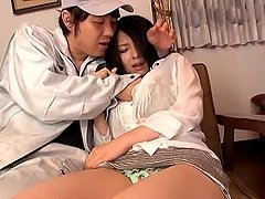 Naughty Japanese vixen was afraid to have sex with him