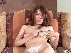 Asian hottie stripping and pleasuring her starved cunt
