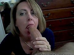 Wife sucking a mean dick in front