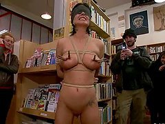 Stunning Bailey Brooks gets fucked in a library in public