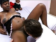 White Cock For an Ebony Pregnant Babe