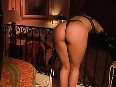 Blonde Babe Gets Her Round Ass Spanked By Busty Dominatrix Mandi Slade