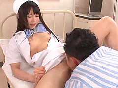 Japanese nurse Arina Sakita seduces a doctor and fucks him