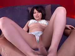 Miyu Nakai the kinky girl in lingerie rides a cock