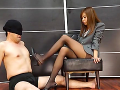 Asian Secretary was told by her boss to dominate over him