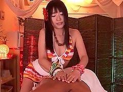 Horny Tsubomi gives a handjob expertly in POV video