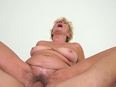Salacious granny Malya gets her slack cunt licked and drilled hard