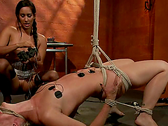 Isis Love Playing with Dylan Ryan in Anal Lesbian BDSM Session