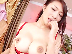 Reiko Kobayaka blows and gets her twat fucked and creampied