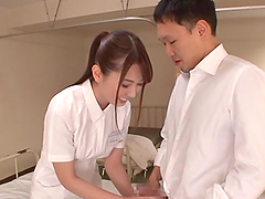 Sexy Japanese nurse Yui Hatano enjoys heavy pounding in a hospital