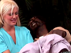 Busty Andie Anderson gets rammed by a Black dude