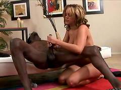 Luxury angel is going to amaze her black lover