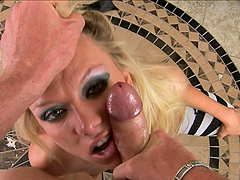 Jeanie Marie gets mouth-fucked and choked and enjoys it